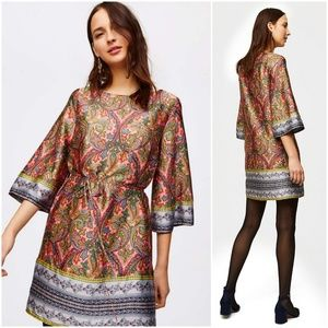 LOFT Paisley Satin Dress